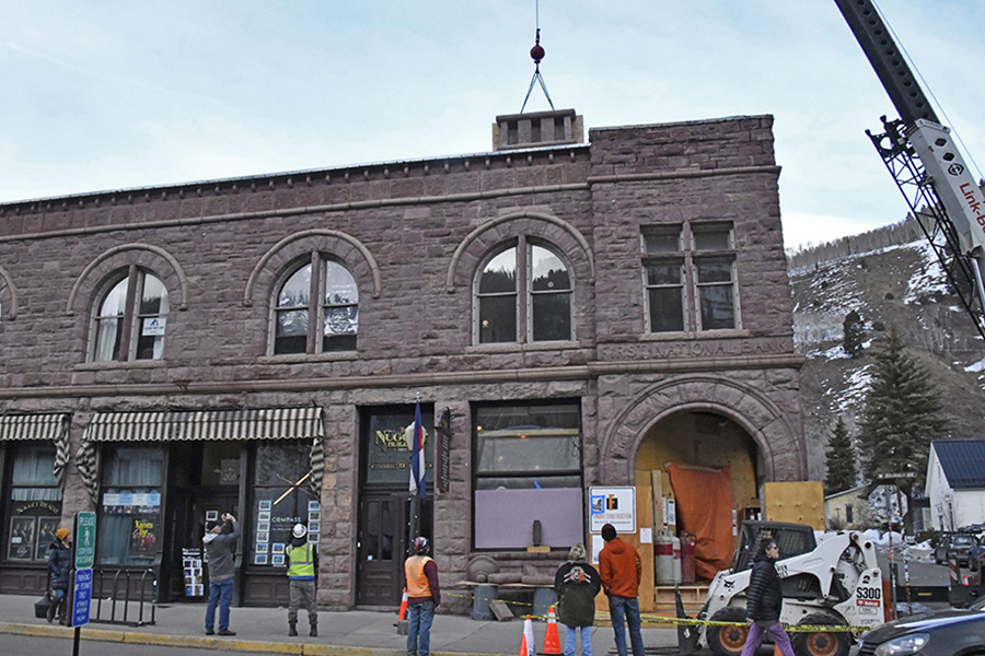 Historic Nugget Building Renovation Underway